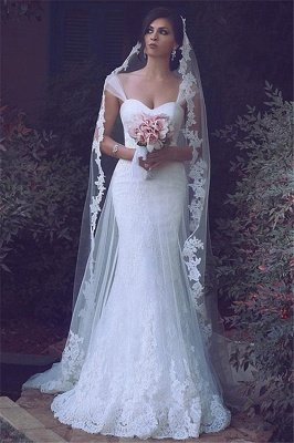 Sexy Mermaid Lace Bridal Gowns New Arrival Custom Made Long Wedding Dresses UK_3