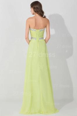 Modern Sleeveless A-line Chiffon Evening Dress UK Beadings Lace-up_3