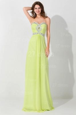 Modern Sleeveless A-line Chiffon Evening Dress UK Beadings Lace-up_1