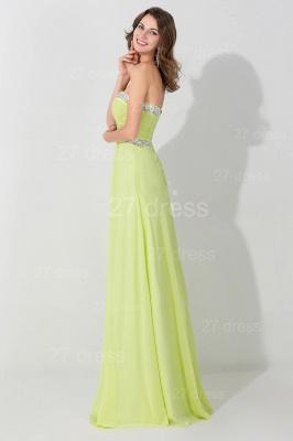Modern Sleeveless A-line Chiffon Evening Dress UK Beadings Lace-up_2