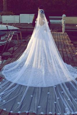 Elegant Off-the-Shoulder Wedding Dresses UK Open Back Appliques Bridal Gowns_3