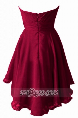 Elegant Sweetheart Sleeveless Homecoming Dress UK Beadings Zipper Chiffon Short Cocktail Gown_2