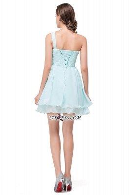 Sexy One Shoulder Chiffon Short Homecoming Dress UK_3