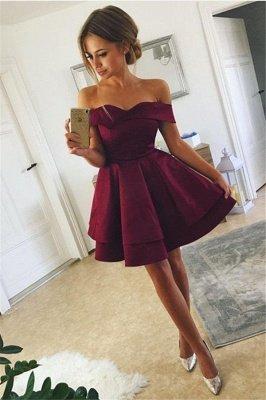 Sexy Off-the-Shoulder Short Homecoming Dress UK | Mini Party Dress UK_1