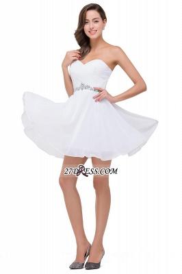 Short Sweetheart Chiffon White Sexy Crystal Homecoming Dress UK_6
