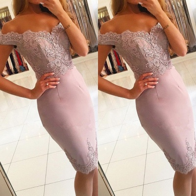 Sexy Off-the-Shoulder Short Prom Dress UK | Lace Mermaid Homecoming Dress UK_3
