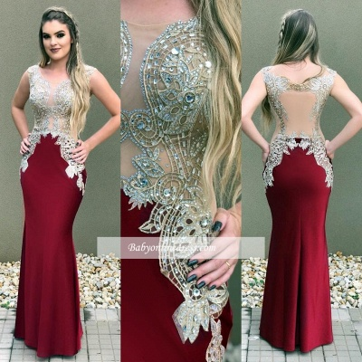 Burgundy prom Dress UK, lace evening Dress UK online_1