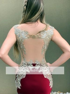 Burgundy prom Dress UK, lace evening Dress UK online_3