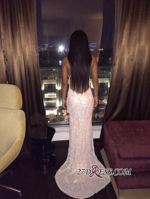 Spaghetti-Straps Backless Elegant V-Neck Lace Prom Dress UK PT181_4
