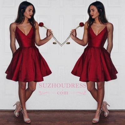 Ruby Sleeveless Newest Spaghetti-strap Short Homecoming Dress UK_1