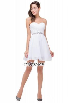 Short Sweetheart Chiffon White Sexy Crystal Homecoming Dress UK_4