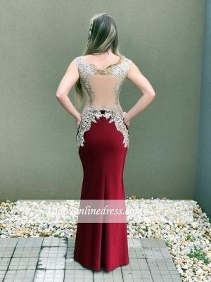 Burgundy prom Dress UK, lace evening Dress UK online_4