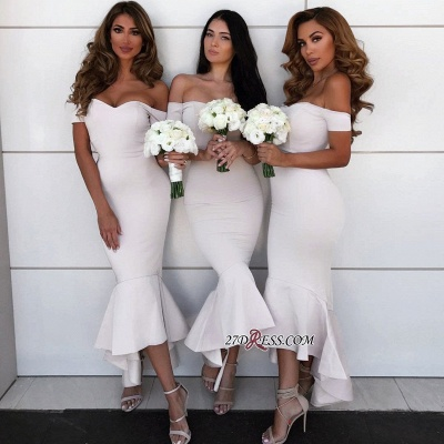 Simple Off-the-Shoulder Wedding Reception Dress UK | Bridesmaid Dress UKes UK Online_3