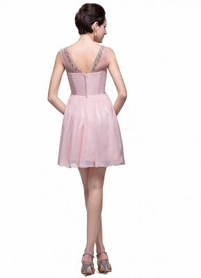 Gorgeous Sleeveless Crystal Short Homecoming Dress UK Chiffon_2