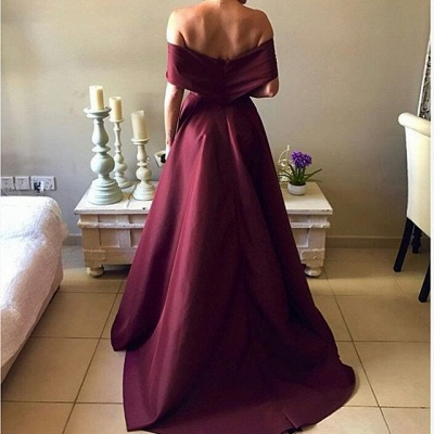 Sexy Burgundy Prom Dress UK Off-the-Shoulder Party Gowns BA7835_3