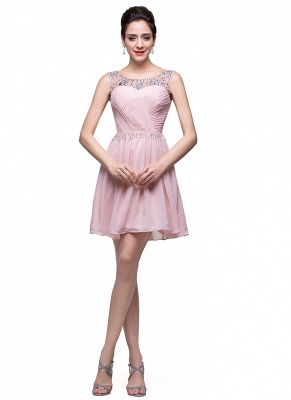 Gorgeous Sleeveless Crystal Short Homecoming Dress UK Chiffon_4