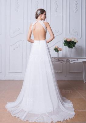Sexy Jewel White Chiffon Evening Dress UK Open Back_5