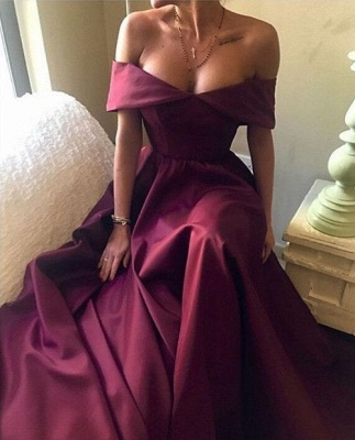 Sexy Burgundy Prom Dress UK Off-the-Shoulder Party Gowns BA7835_1