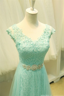 Sexy Lace Appliques Sleeveless Prom Dress UK Floor Length Tulle Evening Gowns_6