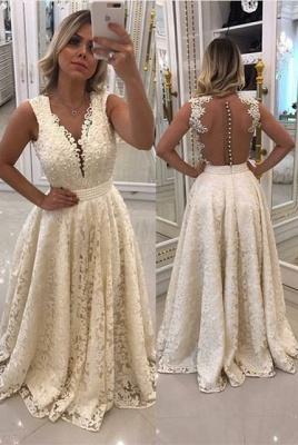 Luxury Sleeveless Lace Evening Dress UK Long With Pearls_1