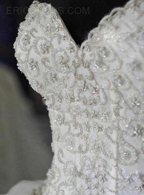 Gorgeous Ball Gown Beadss Wedding Dress Court Train Bowknot_4
