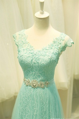 Sexy Lace Appliques Sleeveless Prom Dress UK Floor Length Tulle Evening Gowns_5