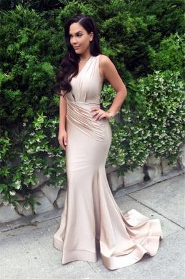 Designer Ruched Sleeveless Evening Dress UK Mermaid Floor Length BA3633_1
