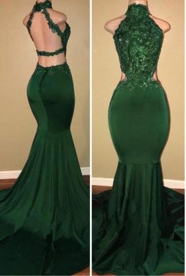 Green lace mermaid prom Dress UK, green evening Dress UK_1