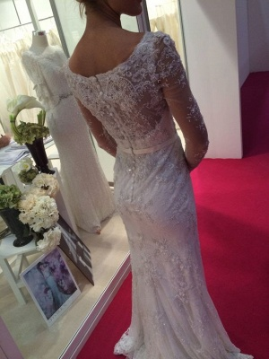 Long Sleeve Lace Wedding Dress | Sexy Mermaid Bridal Gowns On Sale_4