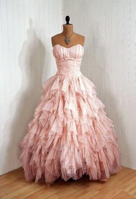 Luxury Sweetheart Tulle Prom Dress UKes UK Ruffles Floor Length_1