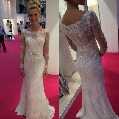 Long Sleeve Lace Wedding Dress | Sexy Mermaid Bridal Gowns On Sale_3