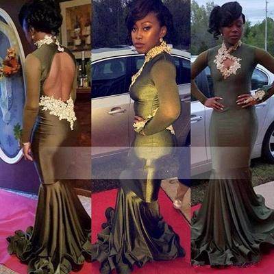 Elegant Long Sleeve Keyhole Neckline Prom Dress UK | Lace Prom Dress UK BK0_3