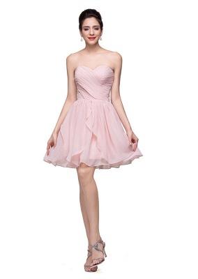 Luxury Sweetheart Short Homecoming Dress UK Chiffon_3