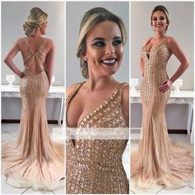 V-neck crystal evening Dress UK,prom Dress UK mermaid BA8091_1
