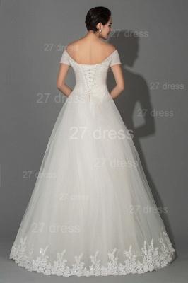 Elegant Off-the-shoulder White Princess Wedding Dress Lace Floor-length_4