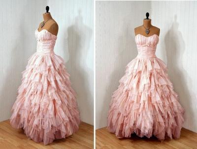 Luxury Sweetheart Tulle Prom Dress UKes UK Ruffles Floor Length_3