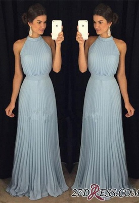 Luxury Floor-Length Sleeveless Long Halter Evening Dress UK AP0_2