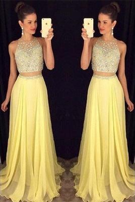 Luxury Beadings Sleeveless Prom Dress UK Long Chiffon Party Gowns AP0_3