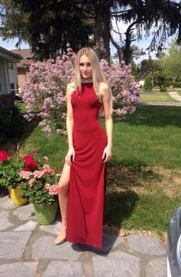 Elegant red prom Dress UK, long evening Dress UK with crystal_1