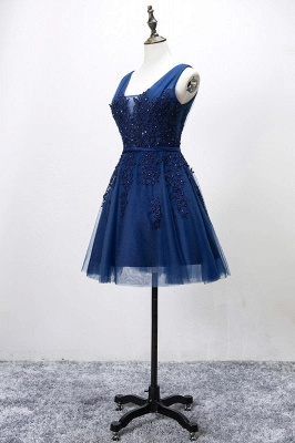 Beautiful Sleeveless lace-up Short homecoming Dress UK Lace Appliques Tulle BA3782_7