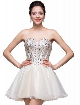 Gorgeous Sweetheart Crystal Short Homecoming Dress UK Tulle_5