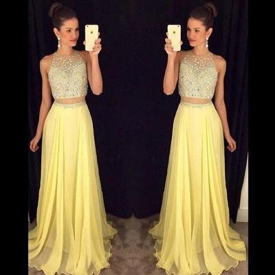 Luxury Beadings Sleeveless Prom Dress UK Long Chiffon Party Gowns AP0_5