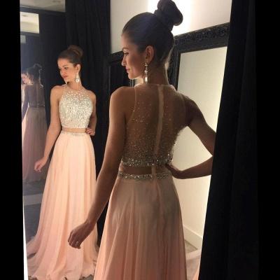 Luxury Beadings Sleeveless Prom Dress UK Long Chiffon Party Gowns AP0_7