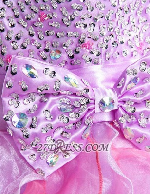 Gorgeous Sweetheart Sleeveless Ruffles Short Homecoming Dress UK Beadings Crystals Bowknot Lace-up Cocktail Gown_4