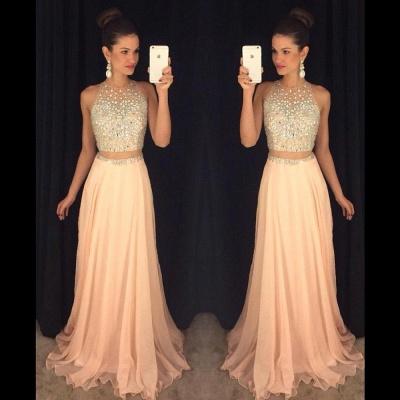 Luxury Beadings Sleeveless Prom Dress UK Long Chiffon Party Gowns AP0_6