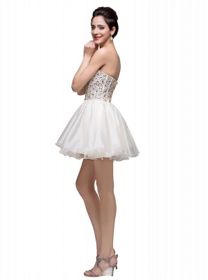 Gorgeous Sweetheart Crystal Short Homecoming Dress UK Tulle_4