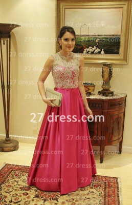 Bateau Sexy Lace Prom Dress UK A-line Aplliques Taffeta Womens Evening Gowns_3
