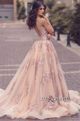V-neck Slit Lace Amazing Front Tulle Pink Overskirt Appliques Evening Dress UK JJ0156_3