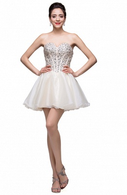 Gorgeous Sweetheart Crystal Short Homecoming Dress UK Tulle_3