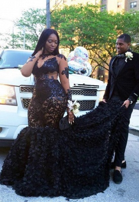 Elegant black prom Dress UK long sleeve,plus size evening Dress UK BA8152_1
